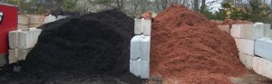 Black and Red Cedar Bark Mulch sold in bulk