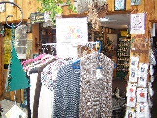 Alpaca wool sweater and scarves